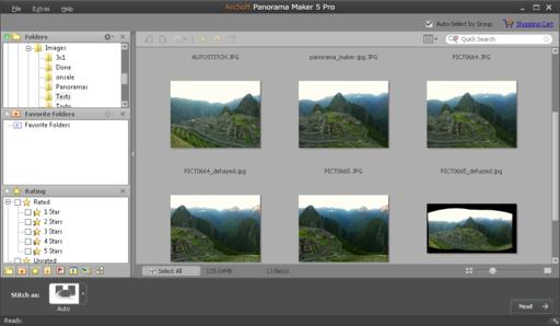 Panorama Maker 5 Pro - Main Window